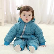 Fashion Winter Baby Rompers Cotton Padded Jack Baby Outwear Clothes 3Color Snowsuit Children Kids Jumpsuit Baby Coat Retail