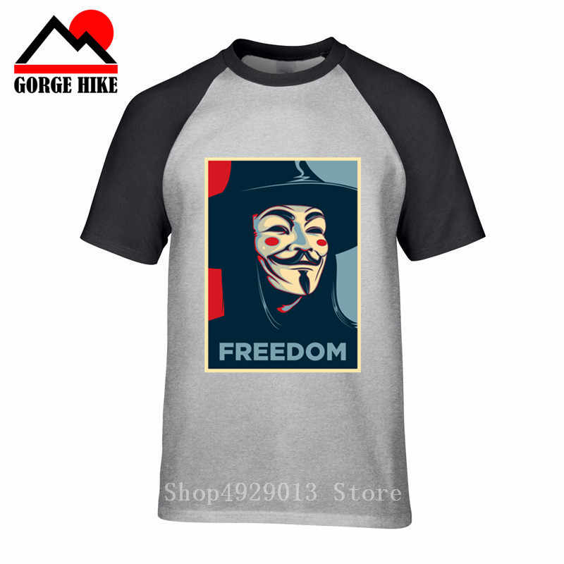 V Für Vendetta Schwarz T-shirt Anonymous Maske Guy Fawkes Inspiriert Freiheit Revolution Herren T-Shirt O Hals Hip Hop T Shirts top 3XL