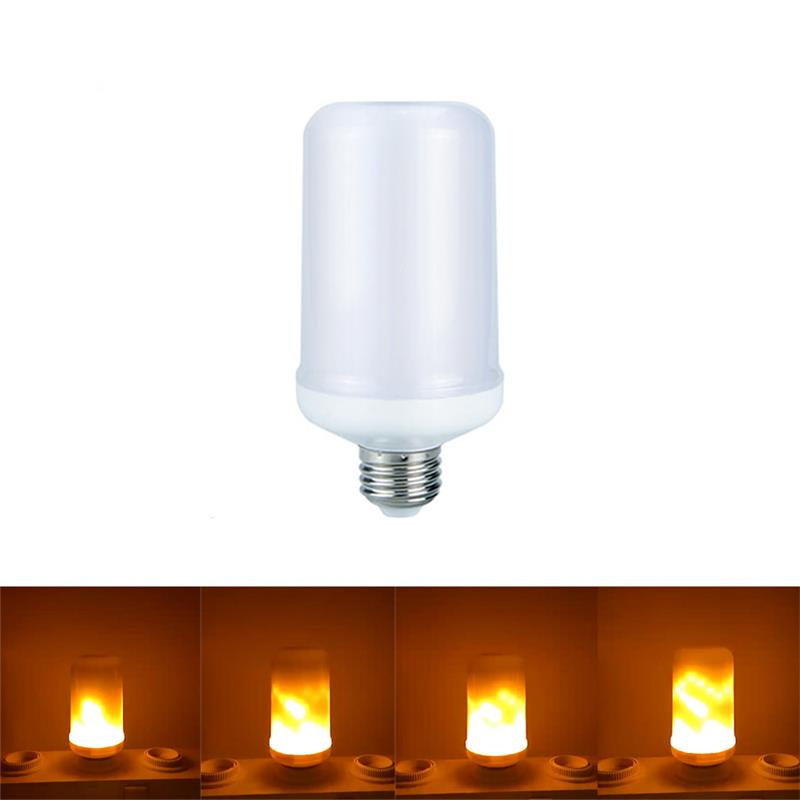 New E27 E26 2835 LED Flame Effect Fire Light Bulbs 7W Creative Lights Flickering Emulation Vintage Atmosphere Decorative Lamp
