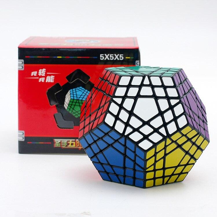 Shengshou Wumofang 5x5x5 Cube magique Shengshou Gigaminx 5x5 professionnel Dodecahedron Cube Twist Puzzle apprentissage jouets éducatifs