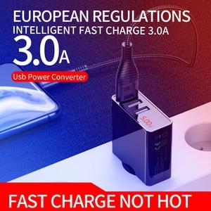 Image 2 - 携帯電話充電器ledディスプレイ3 usb充電器iphoneサムスンxiaomi euトラベル壁の充電器電話充電usbアダプタ