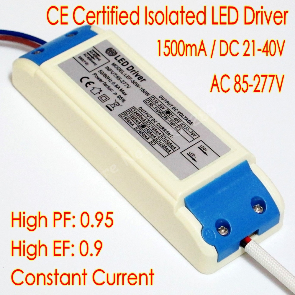 ce certified isolated 1500ma 50w led driver 10 series 5 parallel led lamp power supply dc 21v. Black Bedroom Furniture Sets. Home Design Ideas
