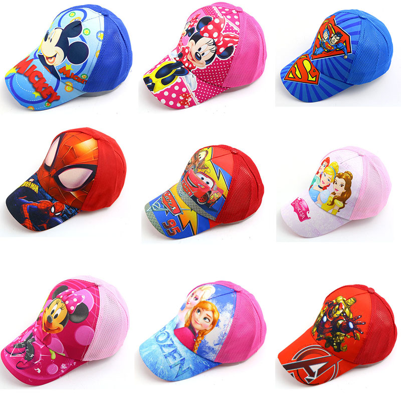 Cartoon Mouse Mickey Minnie Princess Child   Baseball     Cap   Baby Outdoor Travel Flat along Hip Hop Hat Shade   Baseball     cap
