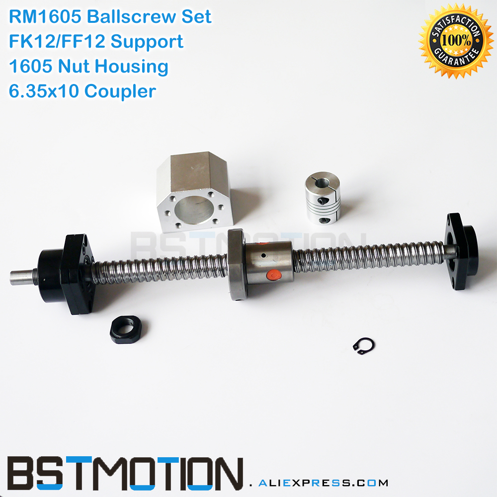 1605 Ballscrew SFU1605 165mm 200 300 400 500 600 700 800 900 1000 1100 1200 1500mm