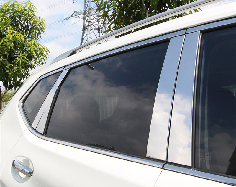 CHROME Pillar Posts for Nissan Rogue X-Trail 2014 2015//6pcs Window Pillar Trim