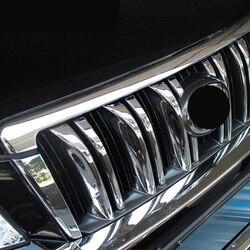Dla toyota land cruiser Prado 150 2010 2011 2012 2013 ABS chrome osłona na maskownicę dekoracyjne części akcesoria samochodowe do stylizacji 6 sztuk