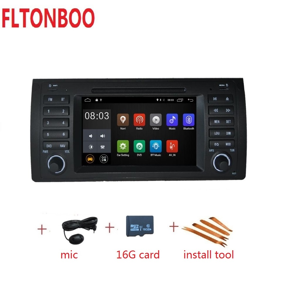 Android 9 for bmw E39 X5 M5 E53 car dvd gps navigation wifi radio bluetooth Steering