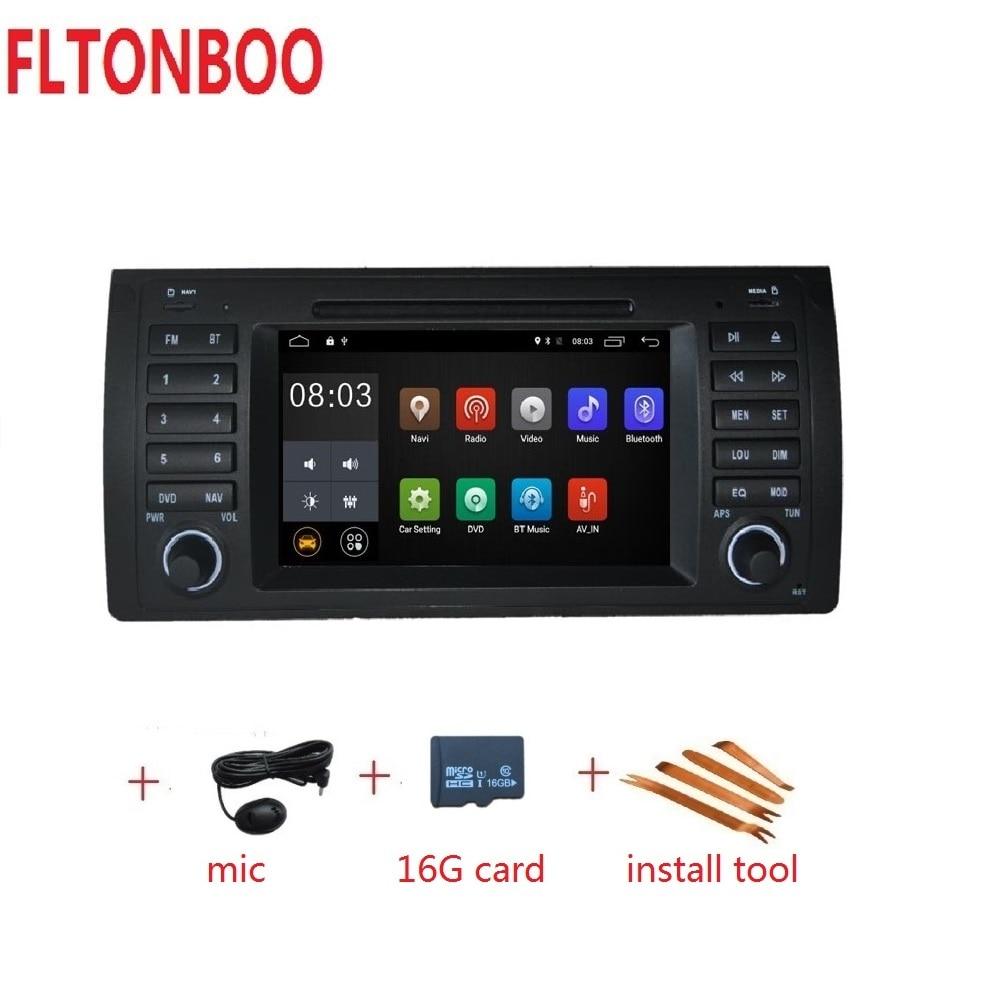 Android 9 pour bmw E39, X5, M5, E53 dvd de voiture, navigation gps, wifi, radio, bluetooth, volant Canbus gratuit carte 16g, micro, écran tactile