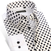 Мужская рубашка с длинным рукавом, цветочный принт, пэчворк, повседневная, тонкая, удобная, мягкая, хлопок, мужская, модная, топ, рубашка