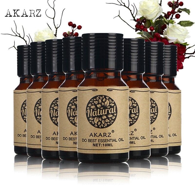 AKARZ Famous brand value meals Bergamot Vanilla Honeysuckle Chamomile Jasmine Musk Eucalyptus Osmanthus essential oil 10ml*8-0