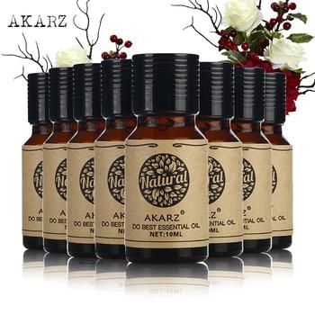 AKARZ Famous brand value meals Bergamot Vanilla Honeysuckle Chamomile Jasmine Musk Eucalyptus Osmanthus essential oil 10ml*8