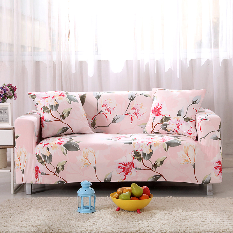 Pink Flower Living Room Sofa Cover Slipcover Floral All