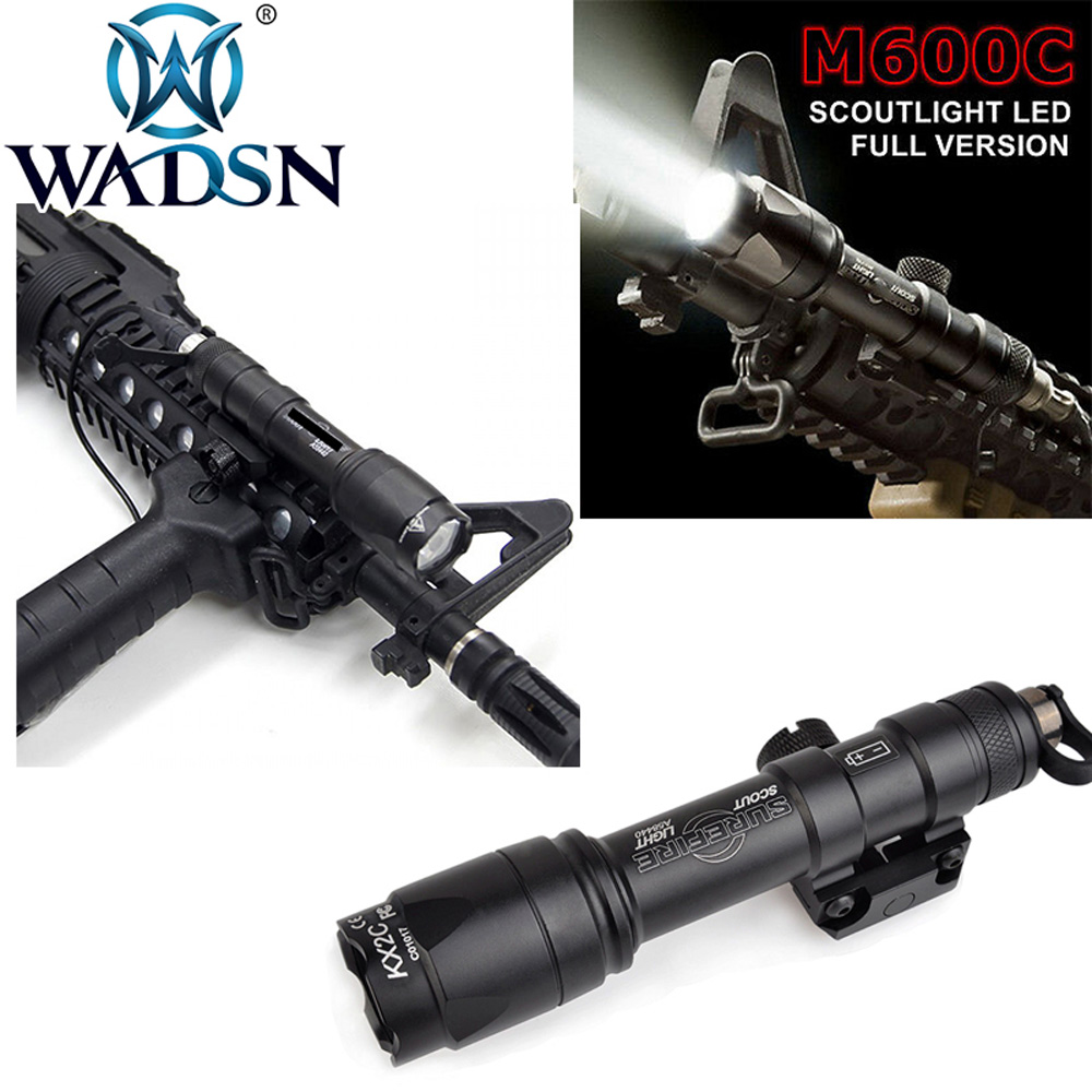 WADSN Surefir Airsoft M600 Tactical Scout Light LED 340 Lumens Remote Pressure Switch M600C Rifle Flashlight EX072 Weapon LightWADSN Surefir Airsoft M600 Tactical Scout Light LED 340 Lumens Remote Pressure Switch M600C Rifle Flashlight EX072 Weapon Light