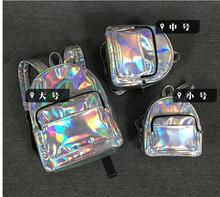 Maelove Neue frauen rucksack weiblich Laser Silber Tasche Hologramm Rucksack Schüler Schule Rucksack umhängetasche Freies Verschiffen