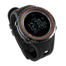 2016 Sunroad FR801B5 Sport Digital Watch Men's Watch 5ATM Waterproof Altimeter Compass Stopwatch Fishing Barometer Orange