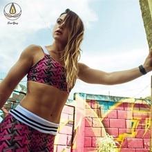 2 PCS Women Fashion Floral Print Yoga Set Seamless Lift Up Bra High Waist Running Leggings Sport Top Pants Workout Suit