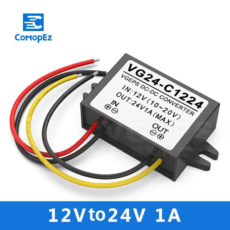 Convertisseur de puissance 12 V à 24 V 1A 2A 3A cc cc 12 volts convertisseur de tension de puissance 24 volts DC-DC convertisseur de tension 12 V-24 V CE RoHS