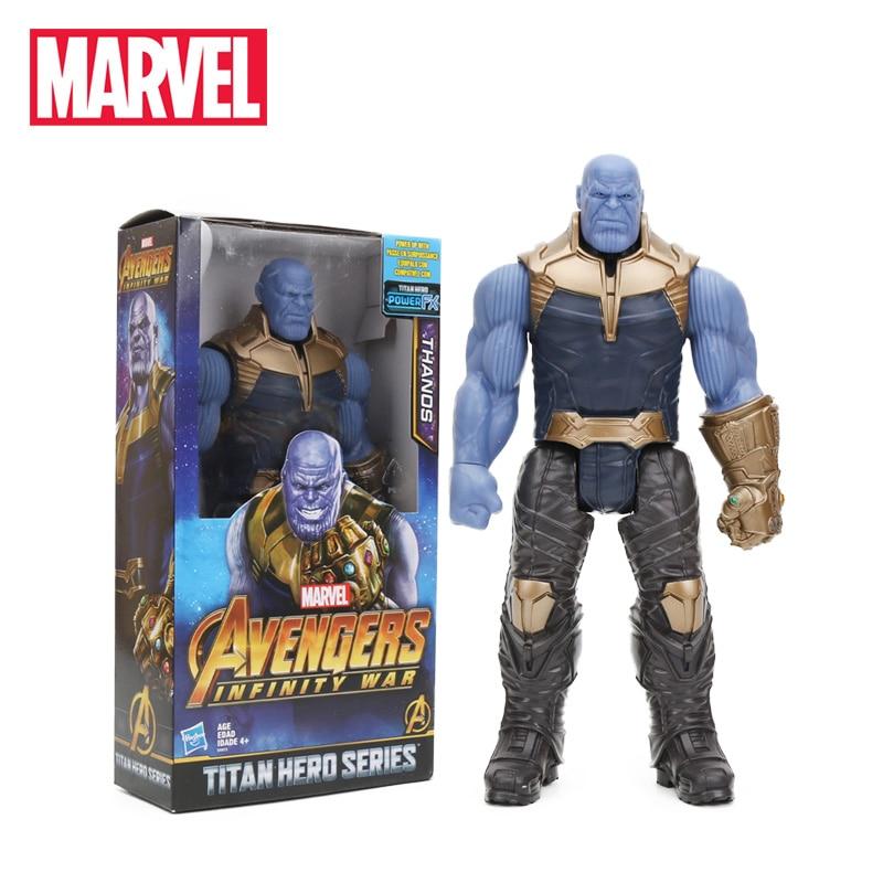 2018 29 cm Marvel Spielzeug die Avengers 3 UNENDLICHKEIT KRIEG Thanos PVC Action-figuren TITAN HERO SERIE Figure Sammeln Modell spielzeug
