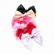 500pcs DHL free shipping 2 inch Black Mini Polyester Satin Ribbon Garment Accessory Bows