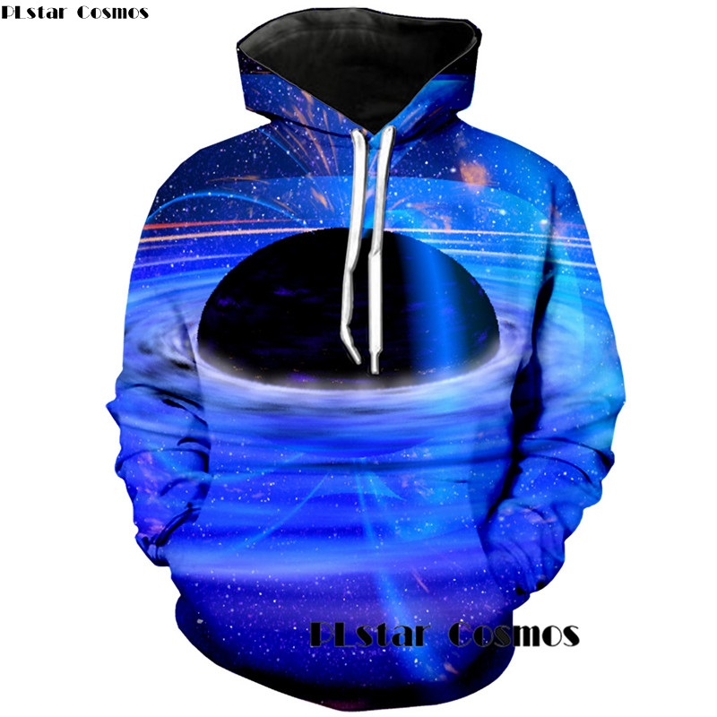 PLstar Cosmos 3d Paisle Universe Black Hole Hoodie Men Women Casual Hoodies Tracksuit Mens Sweatshirt Long Sleeve Pullovers
