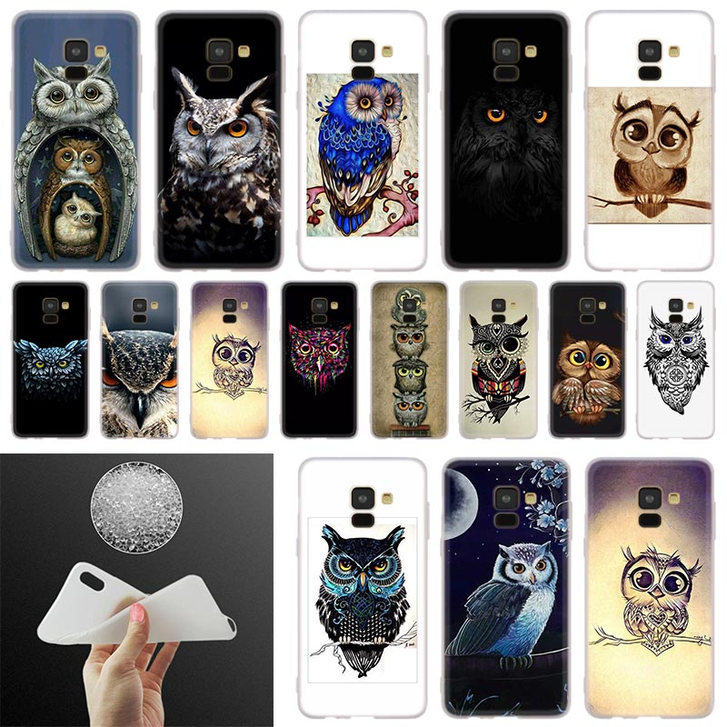 Animal Night Owl Lovely <font><b>Phone</b></font> <font><b>Case</b></font> For <font><b>Samsung</b></font> <font><b>Galaxy</b></font> A10 A20 A30 A40 A50 A60 A70 A6 A8 Plus A7 A9 2018 <font><b>A3</b></font> A5 <font><b>2017</b></font> Soft Cover image