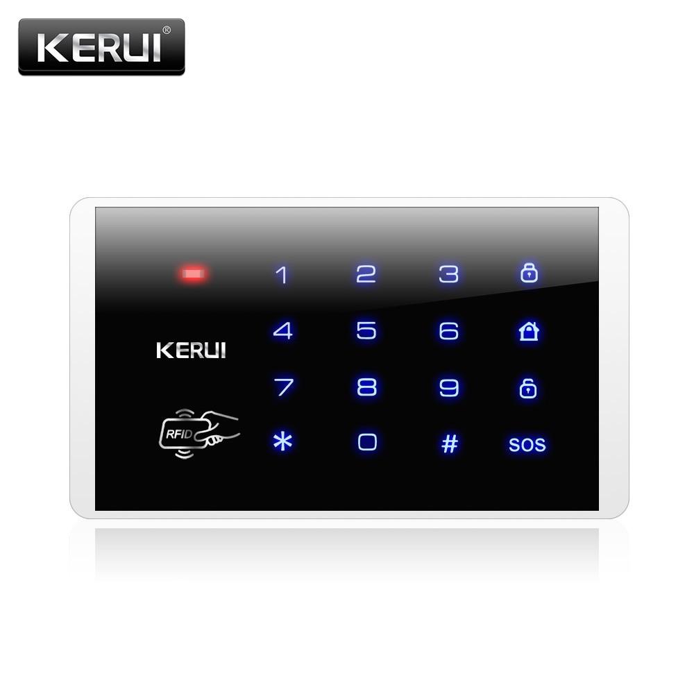 K16 Drahtlose RFID Touch-tastatur Für PSTN GSM Hause Persönliche Haus Alarmanlage 433 MHz Drahtlose Kennworttastatur system