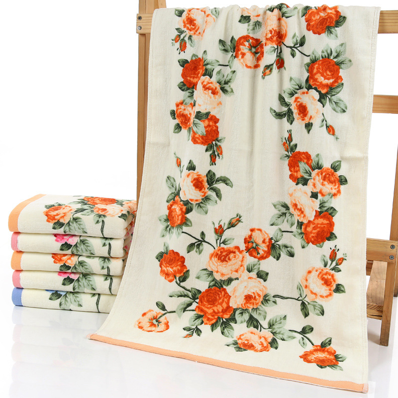 New Flower Printed Cotton Face Towel Quality Pattern Bathroom Hand Towels High Quality Beach Terry Towels
