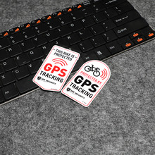 Bicycle Safety Reflective Sticker GPS Tracking Protected Motorcycle Anti-theft Decals Waterproof Relective Sticker Car Styling(China)