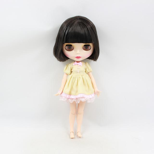 TBL Neo Blythe Doll Short Black Hair Jointed Body