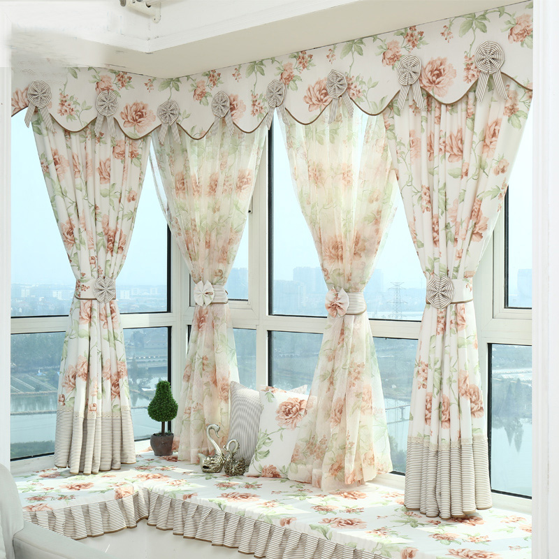 Aliexpress.com : Buy Hot Sale Modern Curtains Designs Window Curtains With  Valances Beautiful Flower Living Room Curtains Match Tulle Curtains From  Reliable ... Part 44