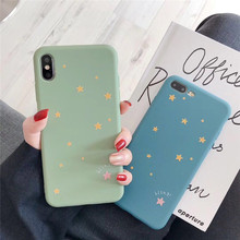 Cute Candy Color Bling Stars Phone Cases For iPhone XS Max XR X 6 6S 7 8 Plus Soft TPU Back Cover Case Gifts