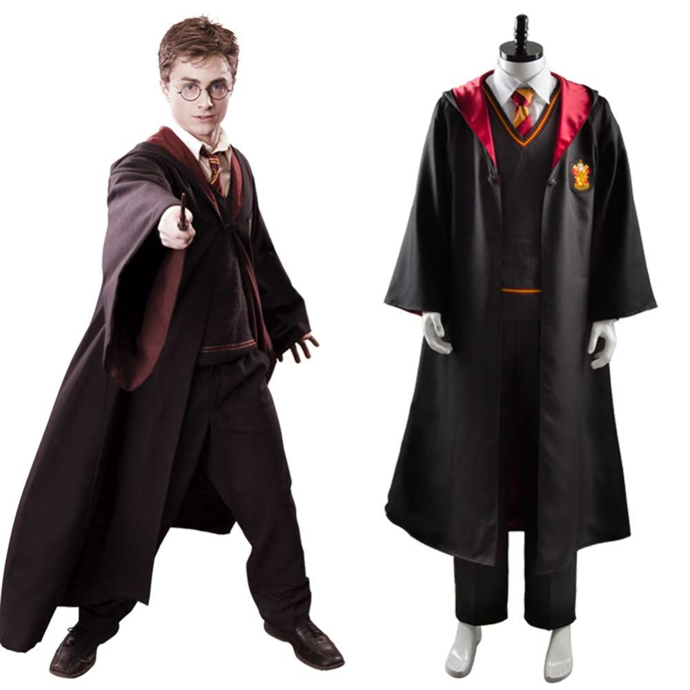 Ron weasley Cosplay Gryffindor Robe School Uniform Costume Full Set Uniform party Halloween Carnival Costumes