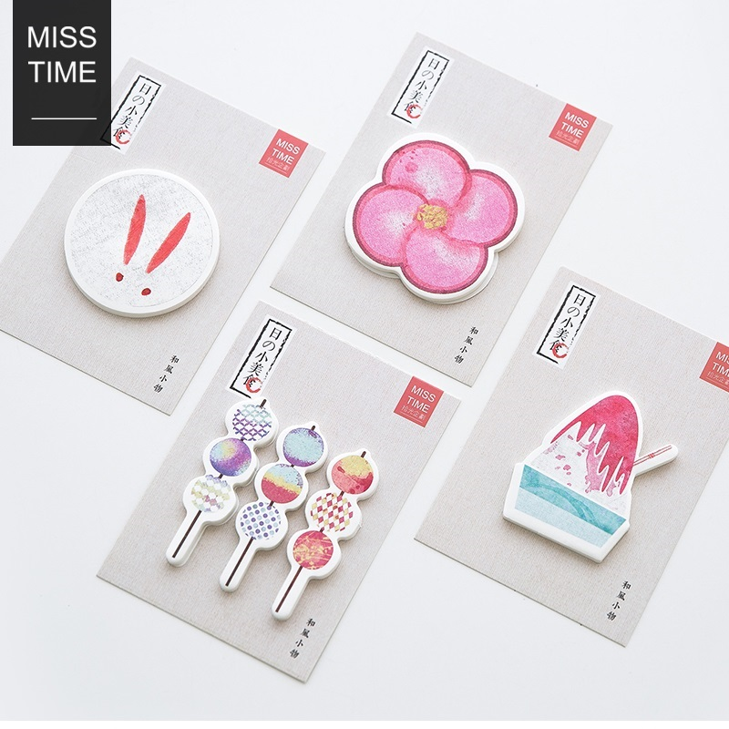 24 pcs/Lot Japanese food memo pad Adhesive post Snacks sticky note Sakura Icecream office accessories School supplies F489