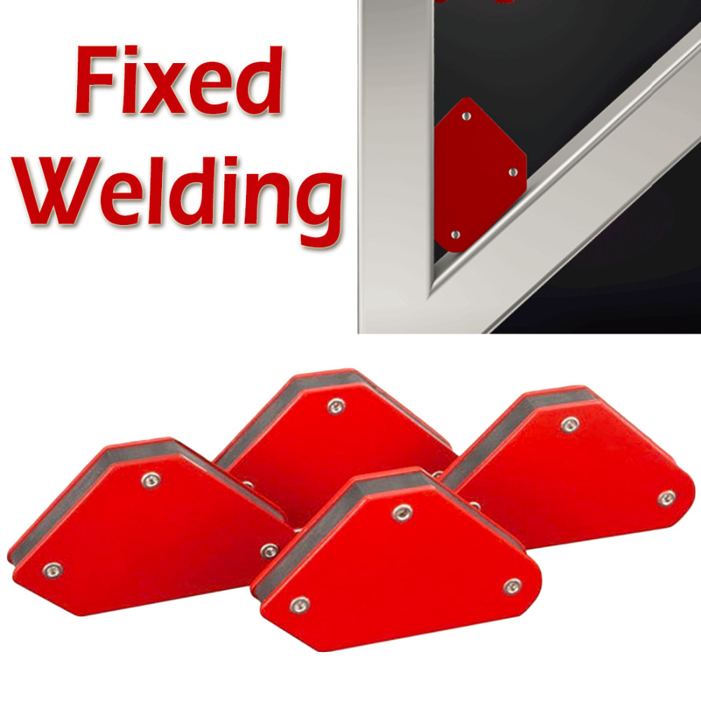 Mini Triangle Welding Positioner 4 Pcs/set 9LB Magnetic Fixed Angle Soldering Locator Tools Without Switch Welding Accessories