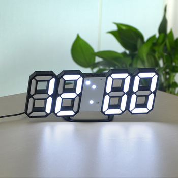 3D USB LED Digital Wall Clock Electronic Desk Table Desktop Alarm Clock 12/24 Hours Display Home Decoration Wake up night lights 9