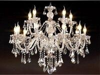 New Luxury Chandeliers K9 Crystal Chandelier Lighting Hotle Hall lighting large 15 arms crystal chandeliers Living Room