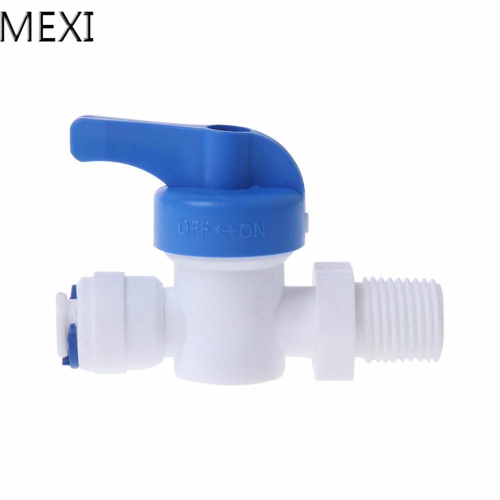 MEXI Straight Inline Ball Valve Tube Quick Connect RO Water Reverse Osmosis System