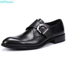 Fashion Genuine Leather Shoes Men Dress Shoe Monk Strap Oxfords Shoes For Men Designer Hasp Men Formal Shoes