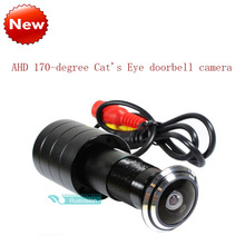 Nueva ahd sony sensor 1080 p cámara 170 degrees1.8mm cat puerta del ojo de color del agujero de seguridad cctv cámara de vigilancia de seguridad de vídeo