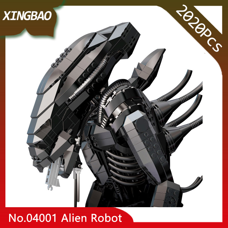 XingBao 04001 The Alien Robot Set children Educational Genuine Creative Movie Series 2020pcs Building Blocks Bricks Toys Model xingbao 04001 free shipping creative movie series the alien robot set children educational building blocks bricks toys model