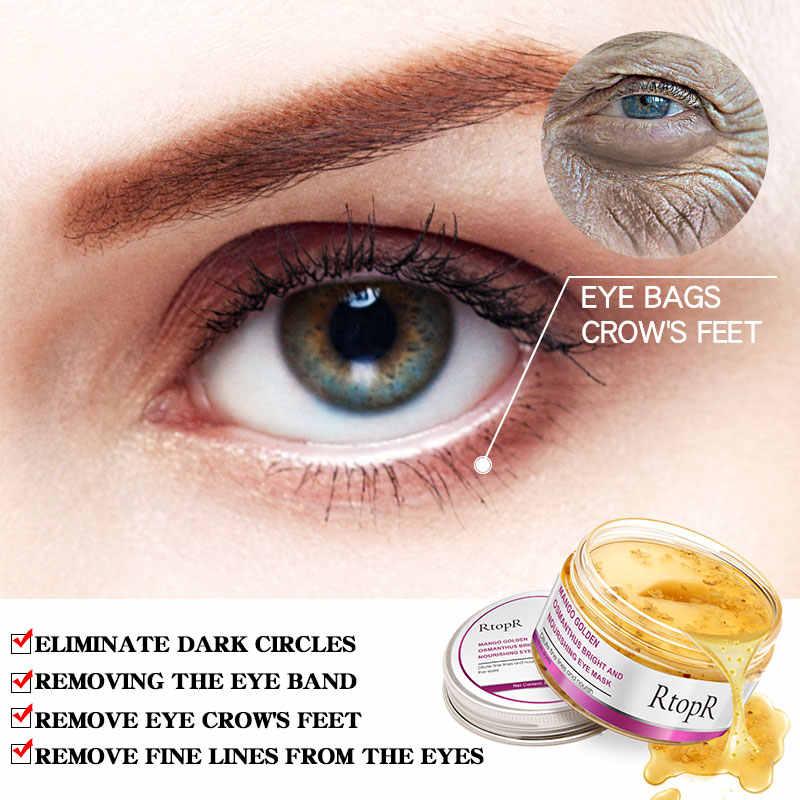 40 pçs/caixa Eye Mask Mango Osmanthus Ouro Brilhante E Nutrir o Cuidado Da Pele Anti-Inchaço Círculo Escuro Anti-Envelhecimento máscara de tratamento