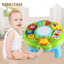 Juego de rompecabezas de desarrollo para niños recién nacidos, juguetes educativos para bebés activos con música de 13-24 meses
