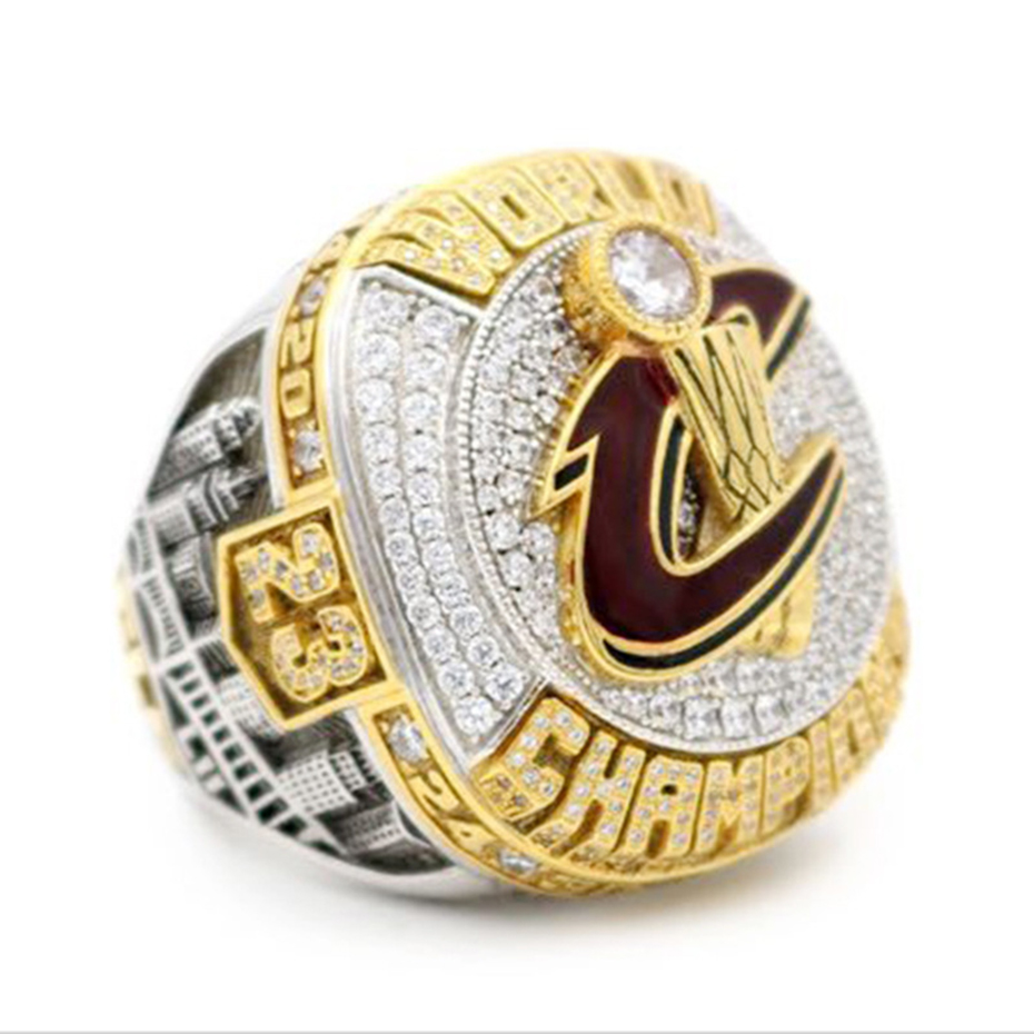 2016 Cavaliers Basketball Championship Ring 23 JAMES Ring for Fan Souvenir Collection Gold Color Rhinestone Men's Jewelry SP1398