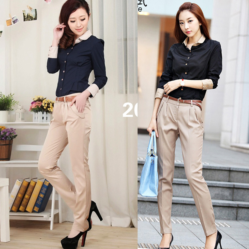 2013 suit pants trousers formal pants mid waist skinny