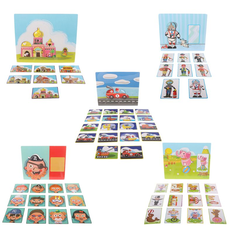 2IN1 Magnetic Puzzle Drawing Board Educational Toys Wooden Puzzles For Kids