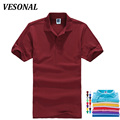 VESONAL New 2017 Summer Solid Casual Polo Shirt Men Short Sleeves Breathable Wear Mens Polo Shirt Brands S-XXXL 16 Color