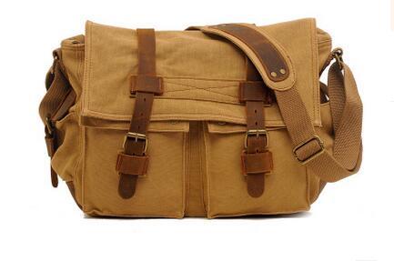 Will Smith men canvas bag Leather Vintage canvas-bag rucksack men canvas messenger bag crossbody shoulder rucksack BAOK-c53d