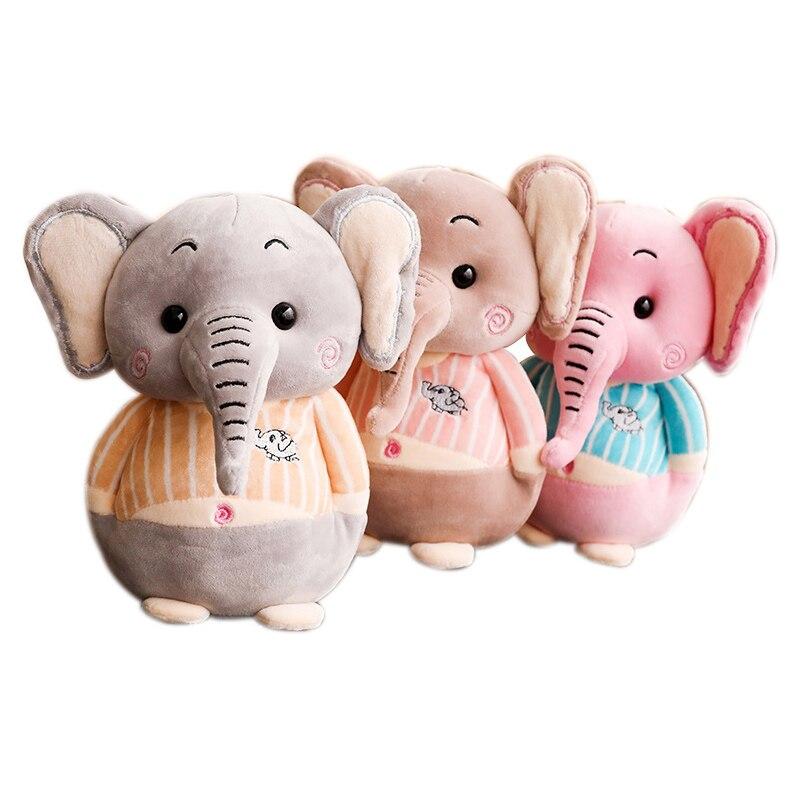 Kawaii 25cm Cute Baby Appease Elephant Plush Lovely Animal Elephant Sleeping Pillow Stuffed Soft Toys for ChildrenKawaii 25cm Cute Baby Appease Elephant Plush Lovely Animal Elephant Sleeping Pillow Stuffed Soft Toys for Children