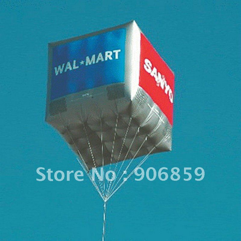 купить FREE Shipping 2m Large Inflatable Helium Advertising Cube Ball Inflatable Square Balloon for you недорого