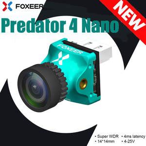 Foxeer Predator V4 Nano FPV Mini Camera Super WDR OSD 4ms Latency PAL/NTSC switchable Camera For 2 Inch indoor FPV Racing drone(China)
